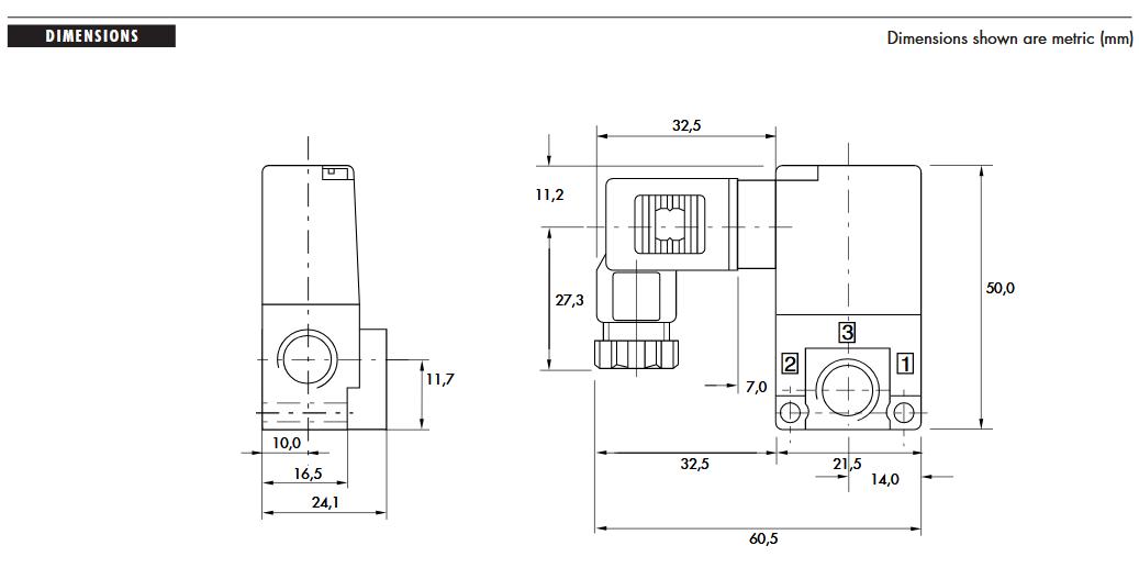 سایز شیر برقی مک 35 mac valves