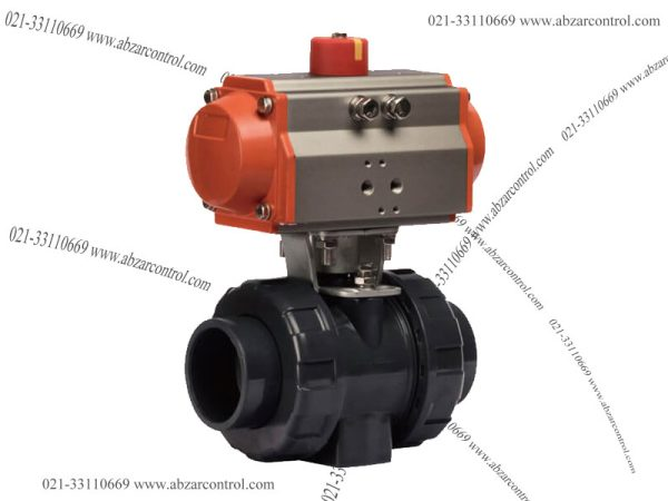 Pneumatic-UPVC-Ball-Valve